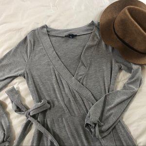 GAP Grey Jersey Wrap Dress - S/M